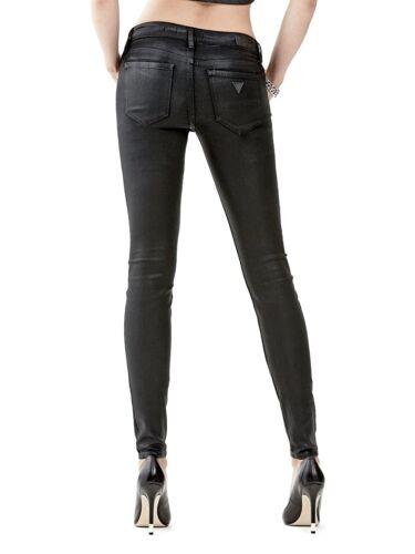 con Skinny Skinny bassa Jeans Black vita 32 a Power Sz trasparente rivestimento Guess q4B5F0F