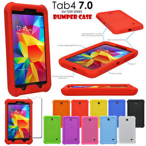 quality design cb84e 2a49c Details about Shock Protective Tough Rugged Rubber BUMPER Case for Samsung  Galaxy Tab 4 7.0