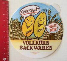 Aufkleber/Sticker: Vollkorn Backwaren - Weizi Roggi - Echt Stark (20031665)