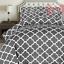 Utopia-Bedding-3-Piece-Printed-Duvet-Cover-Set-with-2-Pillow-Shams-Queen-Grey miniature 2