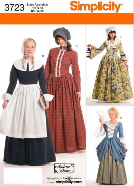 Pioneer Prairie Dress A Bonnet Sew Pattern Simplicity 3723 Miss 6 22