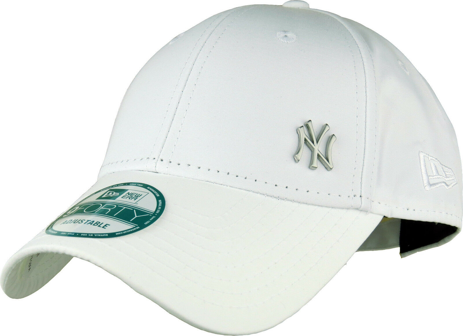 69e527a591d07 Era MLB Flawless Logo 9forty Adjustable Cap NY Yankees White One ...