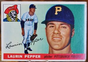 1955-Topps-Baseball-Card-147-Laurin-Pepper-Pittsburgh-Pirates-VG