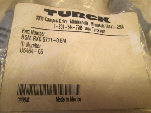 New Turck RSM RKC 5711-0.5M ID# U5464-05 DeviceNet EuroFast Cable
