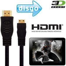 Disgo 6000, 7000, 8000 Tablet PC HDMI Mini to HDMI TV 2.5m Gold Lead Wire Cable