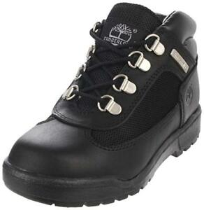 Timberland Field Lace-Up Boot Youth's/Jeunes Size 2 Colors Black On Black