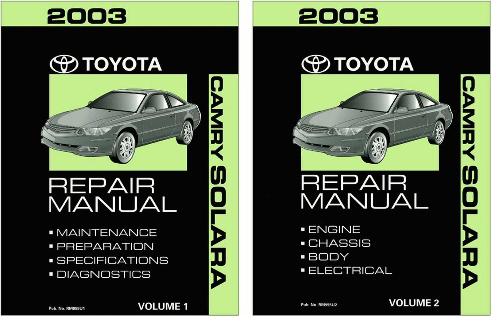 Bishko FEO Repair Maintenance Shop Manual Bound for Toyota Camry, Solara 2003