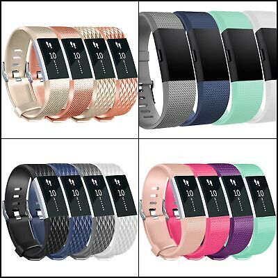 Bands For Fitbit Charge 2,Classic Adjustable Soft Silicone Sport Wristband 4pack