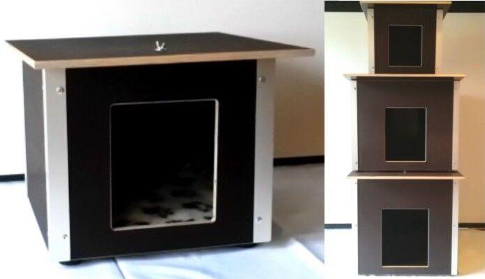 Hundehütte Katzenhaus Hunde Katze Haus Hütte isoliert Siebdruckplatte wetterfest