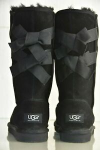 NEW-UGG-Uggs-Australia-EVERLEIGH-Bow-Boots-Black-Suede-6-UK-4-5-EU-37