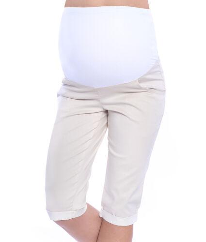 MijaCulture Maternity Cropped Trousers Jeans Shorts Denim Capri 4015