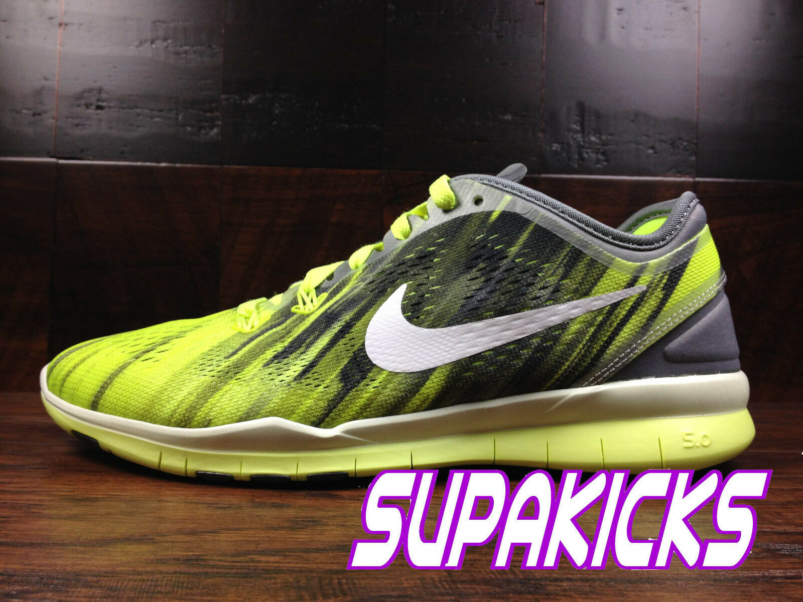 NIKE FREE 5.0 TR FIT 5 Womens (Cool Grey   White   Volt) Crossfit [704695-004]