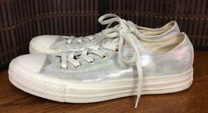 cf754e7738d5 Womens Shoes size 9.5 Converse Chucks 532289F wedding silver new F1 ...