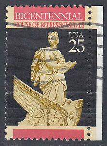 Estados-unidos-sello-con-sello-25c-Bicentennial-con-borde-derecho-686