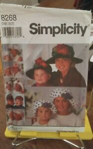Oop-Simplicity-8268-mother-daughter-hats-brimmed-caps-cloche-one-size-NEW