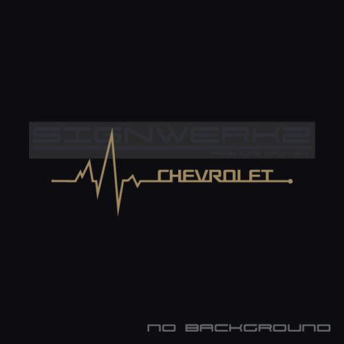 Chevrolet heartbeat pulse Sticker left camaro SS chevrolet vortec new Pair
