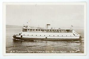 Details about M R Chessman Ferry Astoria Oregon Megler Washington RPPC real  photo Postcard