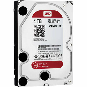 HARD DISK 3,5 WESTERN DIGITAL RED 4TB SATA3 5400rpm 64MB 4000GB WD40EFRX PER NAS