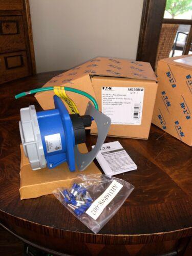 NIB COOPER EATON AH330R6W IEC 309 PIN /& SLEEVE WATERTIGHT RECEPTACLE QUANTITY 2