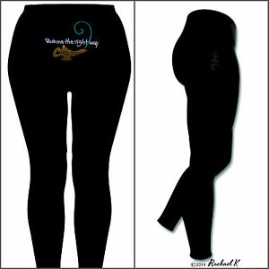Rachael-K-Plus-Size-Seductive-Women-Black-Long-Ankle-Pants-Tights-Kinky-Slogan