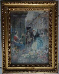 2019 Nouveau Style Robaudy Alcide Theophile 1850-1928 / Aquarelle / Scene De Genre