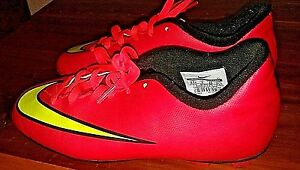 Paleto segunda mano Basura  Nike Mercurial Youth Size 2.5 Soccer Cleats Red and Yellow | eBay