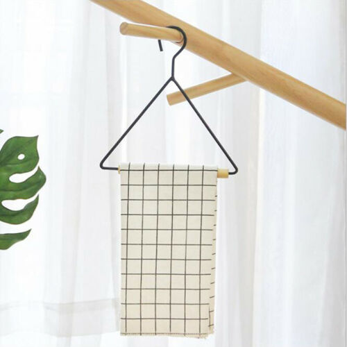 Non-slip Triangle Hanger Creative Children/'s Wrought Iron Solid Wood Towel RackL