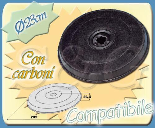 FILTRO UNIVERSALE ROTONDO CON CARBONI PER CAPPA CUCINA FABER CON DIAMETRO 23CM
