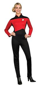 STAR TREK NEXT GENERATION ~ LADIES RED JUMPSUIT M 12-14 | eBay