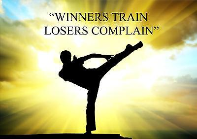 KARATE, KUNG FU INSPIRATIONAL / MOTIVATIONAL QUOTE POSTER / PRINT / PICTURE (4)