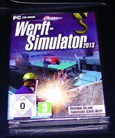 WERFT-SIMULATOR 2013  PC SCHNELLER VERSAND NEU & OVP