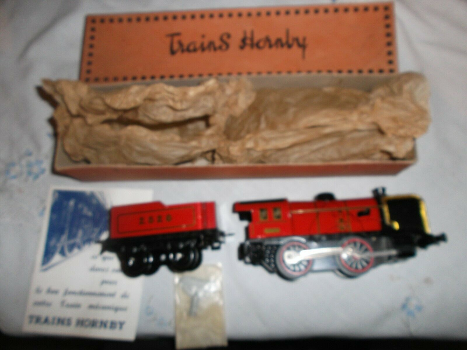 French Hornby  O GAUGE Loco M  clockwork  mint & Boxed