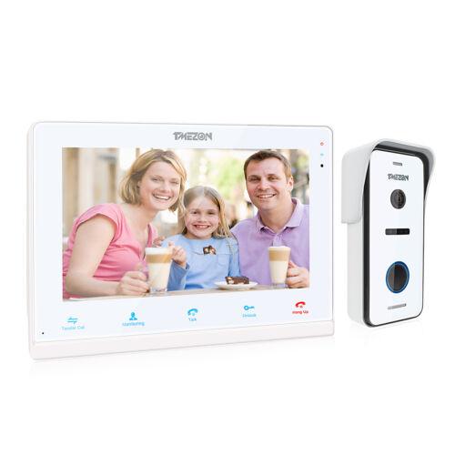 """4-Draht 720P HD WLAN Video Türsprechanlage Gegensprechanlage mit 10/"""" IP Monitor"""