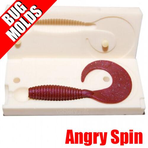 Lure Bait Mold Soft Plastic Molde de Cebo Köderform Moule d/'appât Angry Spin