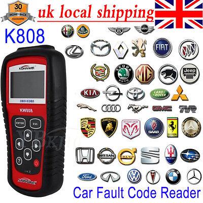 KW808 EOBD OBDII OBD2 Car Fault Code Reader Vehicles Scanner Diagnostic  Tester A 614405579391   eBay