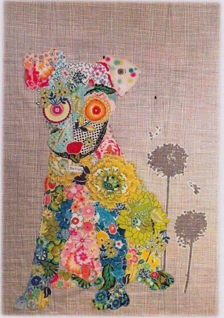 Emerson - collage style applique dog quilt PATTERN - Laura Heine