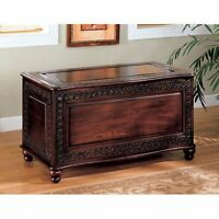 Hope Chest Cedar Storage Trunk Bench Blanket Large Decorative Wooden Stunning
