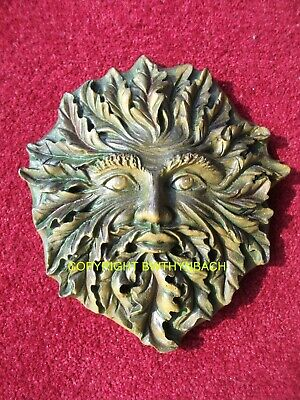 NEW LATEX MOULD MOLD PAGAN WICCAN LARGE GREENMAN CELTIC SUN GOD WALL PLAQUE