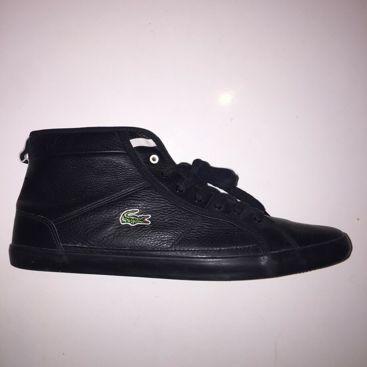 Lacoste Men's Winter Wool Spun Sneakers High Top Black Leather Trainers UK 11