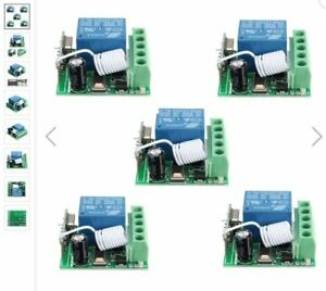 5Pcs-DC12V-10A-1CH-433MHz-Wireless-Relay-RF-Remote-Control-Switch-Receiver