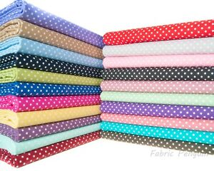 3mm Spots Polka Dots Fabric 100/% Cotton Material Clothing Patchwork Craft