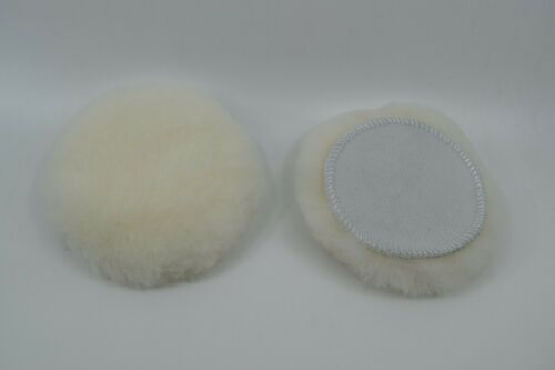 "2 pack 3/"" Hook/& Loop WHITE 100/% WOOL Mini Buffing Pad for HEAVY CUTTING"