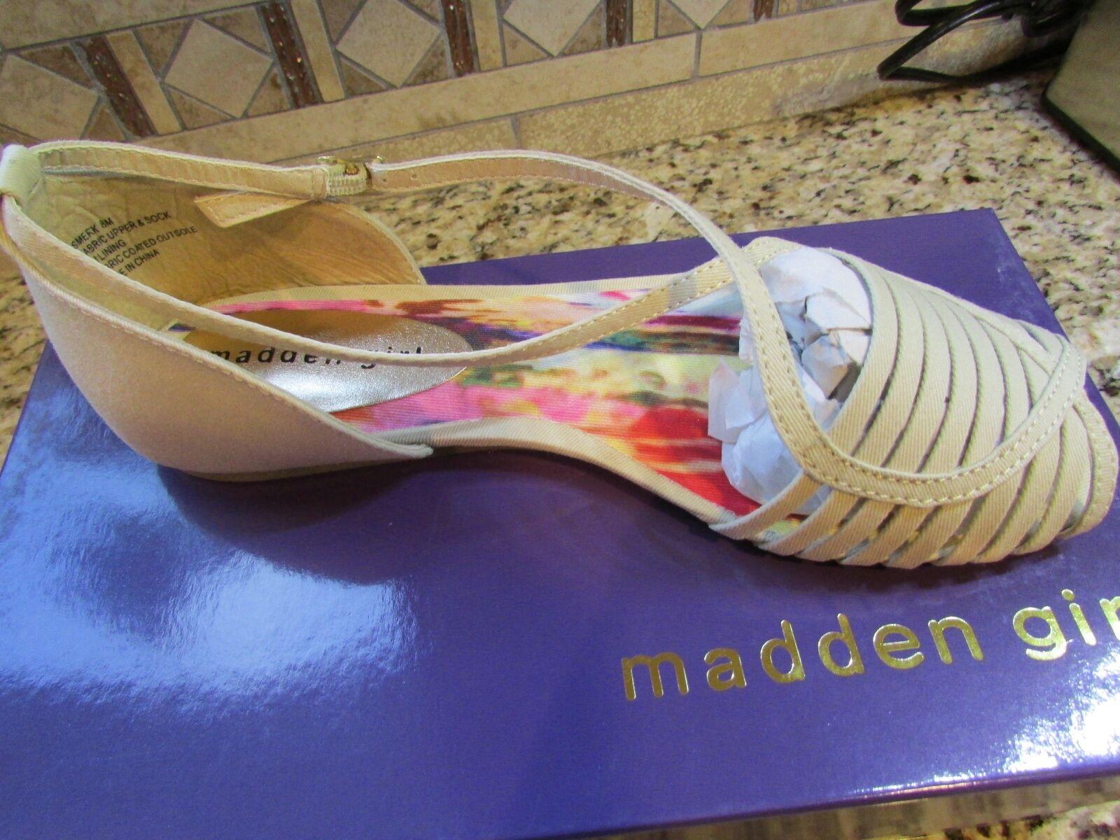 NEW STEVE MADDEN MADDEN GIRL SMERK NATURAL STRAPPY SANDALS WOMENS 10 FREE SHIP
