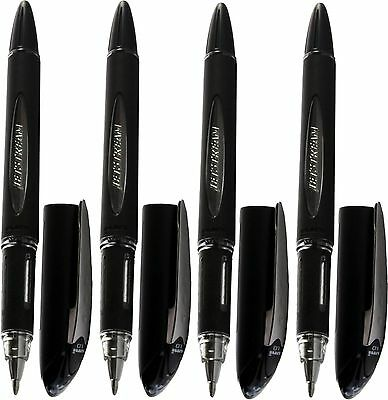 1 x BLUE UNI-BALL JETSTREAM SX-210  PREMIUM ROLLERBALL PEN 1.0 POINT BLACK BODY