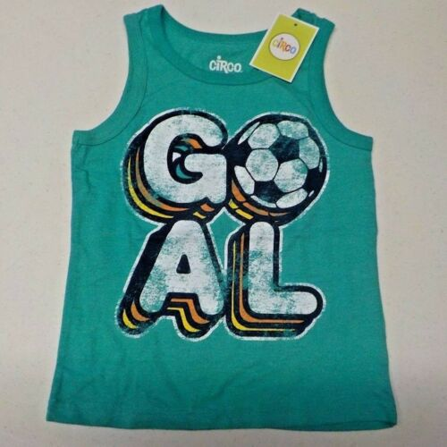 "Boy/'s Size 4T Circo Brand Green /""Goal/"" Soccer Tank New Nwt #8899"