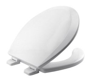 Bemis Round Open Front Toilet Seat Lid Cover White
