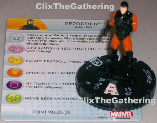 RECORDER #013A Guardians of the Galaxy Marvel HeroClix