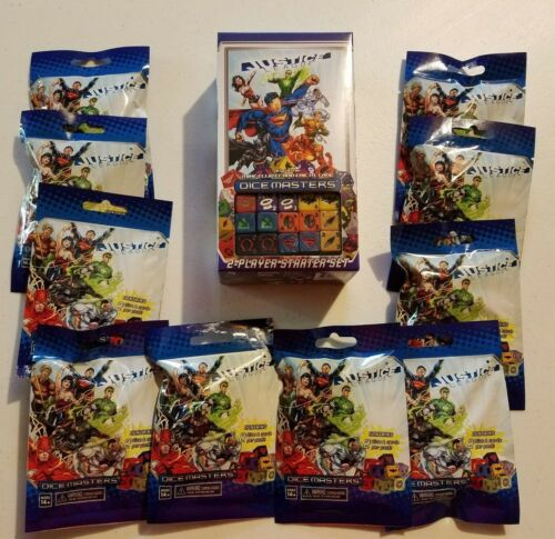 10 Booster Packs Brand New Unopened Dice Masters Justice League Starter Set