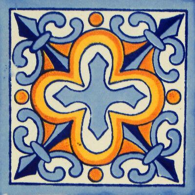 25 Mexican Talavera Decorative Handmade Tiles Folk Art C132