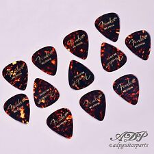 12x MEDIATORS FENDER Celluloid 351 SHELL TORTOISE MEDIUM Guitar PICKS